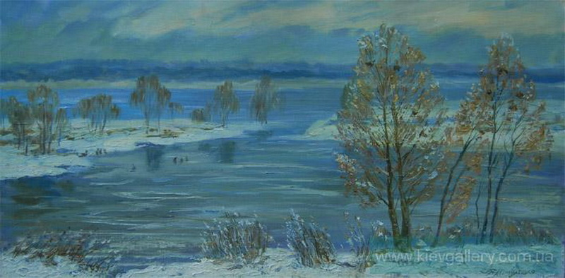Зима на Оболонских затоках