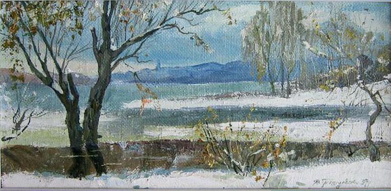 Первый снег на Оболони