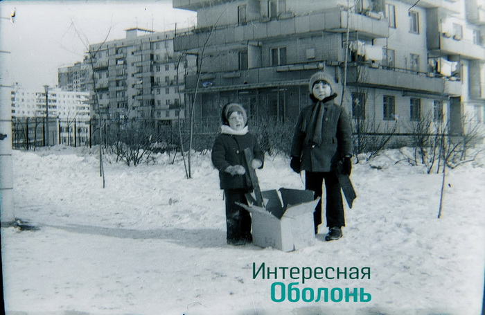 зима на Оболони
