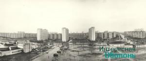 Площадь дождливая панорама