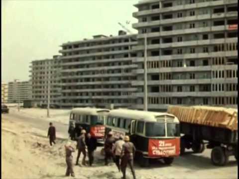 Оболонь. Строительство 3-го и 4-го микрорайонов, 1973 год
