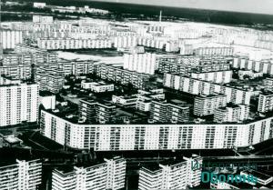 Четвертый микрорайон с воздуха, 1980-е